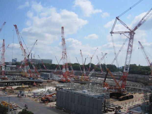 第1回 国立競技場 新築工事定点観測写真日記 河出書房新社の6階より